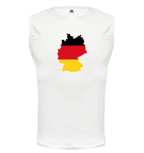 buXsbaum® Tank Top Deutschland-Shape White-z-direct