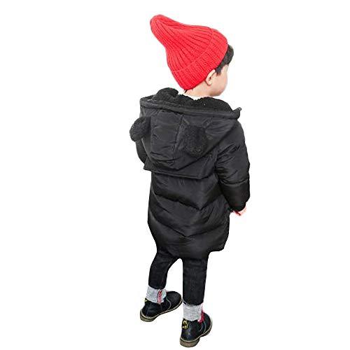 Kinder(2T-7T) Baby Mädchen Junge Winter Mit Kapuze Mantel Jacke, Quaan Dick Warm Oberbekleidung Windjacke Anzug Schön Retro Reise draussen Glamourös Solide Baumwolle Weich Persönlichkeit Kleider