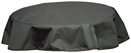 beo Outdoor-Tischdecken wasserabweisende, rund, Durchmesser 120 cm, schwarz/anthrazit