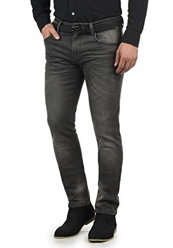 Indicode Aldersgate Herren Jeans-Hose Lange Hose Denim aus hochwertiger Baumwoll-Mischung Destroyed-Optik/Used-Look, Größe:W38/32, Farbe:Dark Grey (910)