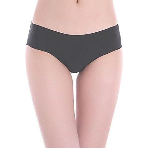 Sannysis® Mujeres Ropa interior invisible; ropa interior sin costuras (Negro, M)