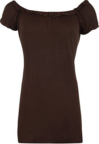 WearAll - Top - Donna Marrone scuro