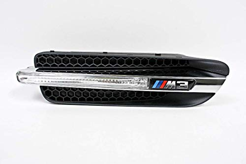 GTV INVESTMENT M3 E90 Front Wing Trim Grill mit Emblem links 51138046447 8046447 NEU