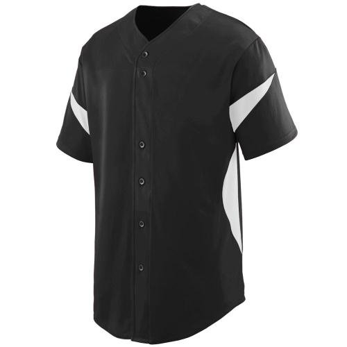 Augusta Sportswear Men'S Wheel House Baseball Jersey 3Xl Black/White (Jersey Body Knit)