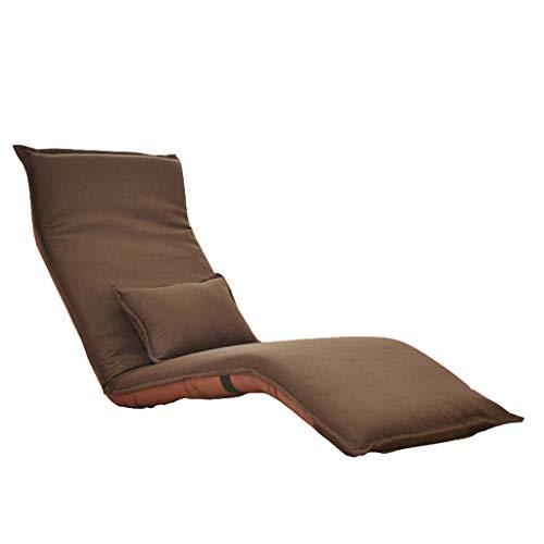 Sofa Lazy Sofa, Liegen Sofa Klappstuhl, Multi-funktionale Lazy Sofa, Simple Modern Lazy Sofa, Schlafsessel Sessel, Freizeit Sofa Stuhl Home (Farbe : Dunkelbraun)