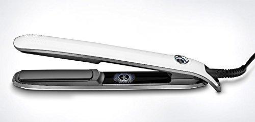 GHD Eclipse White - Plancha de pelo, tecnología tri-zone patentada