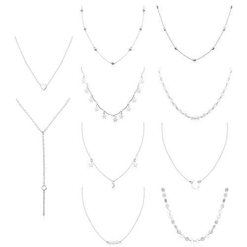 Finrezio collana per le donne ragazze collana girocollo set di collane regolabili
