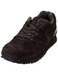 B9228 Sneaker uomo Polo Sport RALPH LAUREN Slaton Pony Scarpa Marrone Shoe  Man 17c486ebf828e