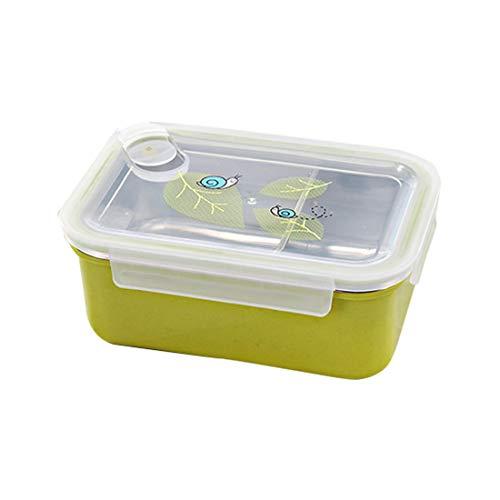 on-Bento-Boxen, BPA-freie, auslaufsichere Brotdosen, tragbar für Kinder, Erwachsene, Büro, Schule, 900 ml, grün ()