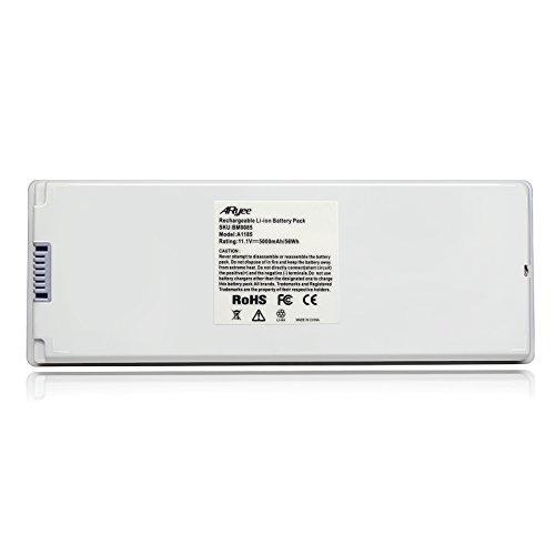 ARyee 5000mAh 11.1V A1185 Batterie Laptop Akku Ersatz für Apple MacBook Pro 13