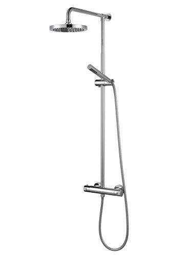Preisvergleich Produktbild Haceka Rainshower-Duschset, inklusive Thermostat, Serie Kosmos chrom, metallisch, 1129253