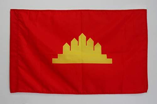 AZ FLAG Flagge Volksrepublik KAMPUCHEA 90x60cm - Khmer gebraucht kaufen  Wird an jeden Ort in Deutschland