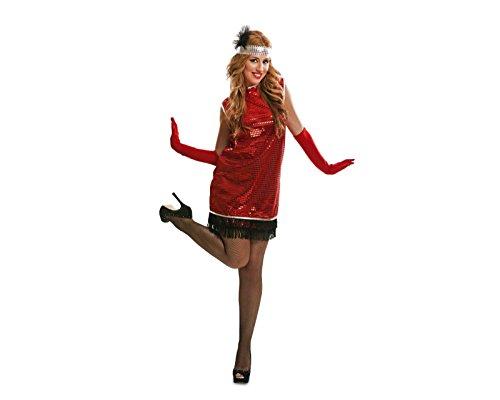 Imagen de my other me  disfraz charleston para mujer, m l, color rojo viving costumes 200512