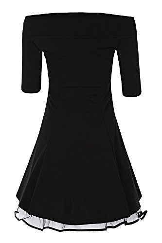 Laeticia Dreams Damen Matrosen Pin Up Petticoat Rockabilly Kleid 50er S M L XL Schwarz