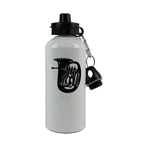 GFGKKGJFD Tuba weiße Aluminium-Sport-Wasserflasche Neuheit Lustige Sport-Wasserflasche Geschenk für Kinder, für Frauen