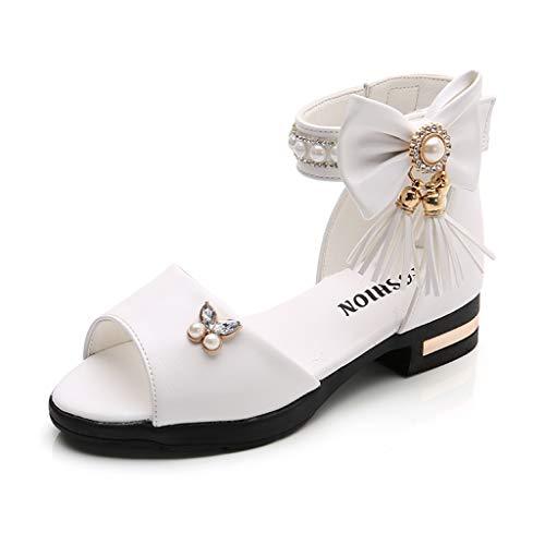 dalen Fringe Bow Pearl Strass Prinzessin Schuhe römische Stiefel Tanzschuhe ()