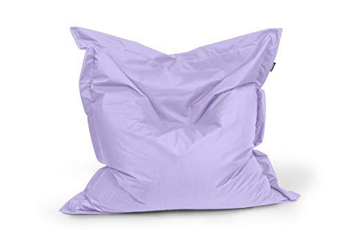 BuBiBag Sitzsack Sitzkissen Bean Bag Rechteck Größe 160 x 145 cm Indoor und Outdoor (Flieder)