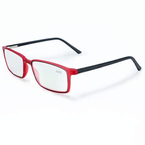 TARTARUGA, 3.00x Occhiali da Lettura Multifocali Progressivi ClassicI Anti Raggi Blu Montatura per Occhiali da Uomo e Donna