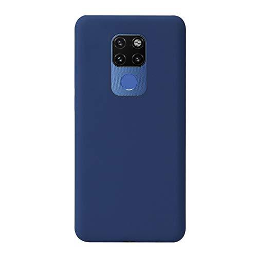 Botongda Cover Huawei Mate 20 X 5G,Custodia in Silicone Morbida Custodia in Silicone Anti-Caduta e Anti-collisione,Guscio Soft-Touch con Fodera in Microfibra per Huawei Mate 20 X 5G-Blu