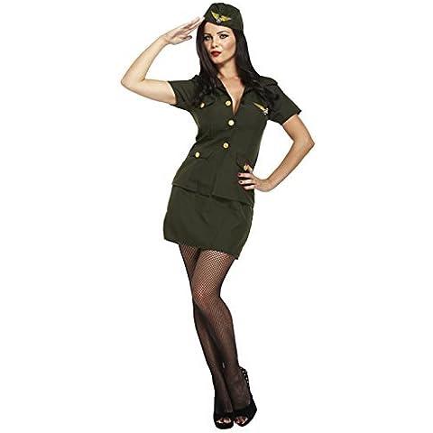 Esercito americano, da donna, colore: verde militare uniforme 1930 's-Costume