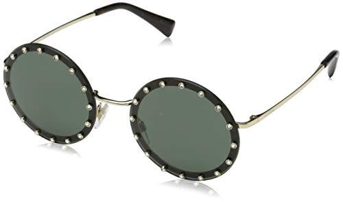Valentino Damen 0VA2010B 300371 52 Sonnenbrille, (Light Gold/Dark Green)
