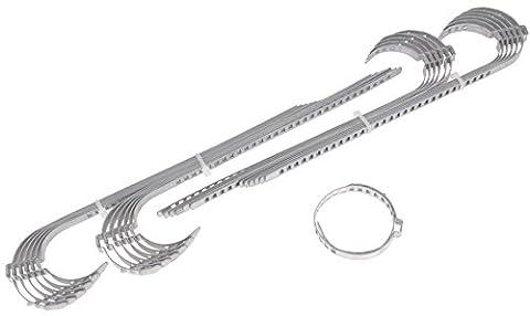 Colliers pour collet d'essieu Long 60–124mm colliers de serrage 9mm de large, 24pièces