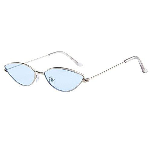 Dragon868 Sonnenbrille Damen Herren Cateye Kleine Rahmen Oval Retro Vintage Sonnenbrille Brillen (H)