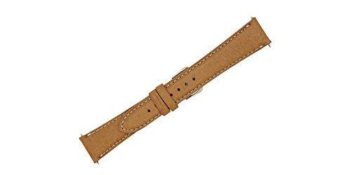 Uhrenarmband aus weichem Echtleder, 20 mm, mit Kontrastnaht, FBA117 - Mercier Uhr Baume Band Und