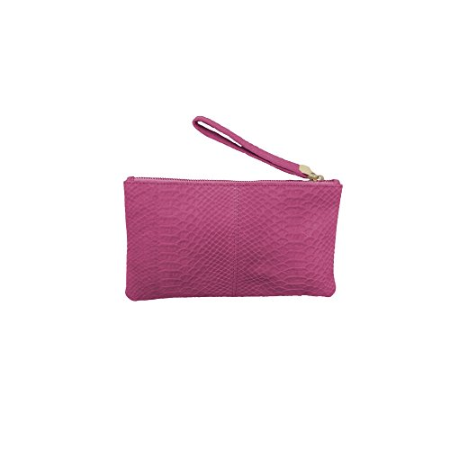 Eastern Counties Leather - Charlotte- Borsa a mano effetto coccodrillo - Donna Rosa