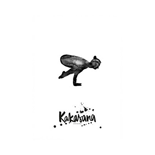 Formart Postkarte Yoga Krähe Kakasana (Linien Krähen)