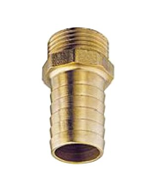 hose connection with outside thread, brass, 3/8 inch, 6mm