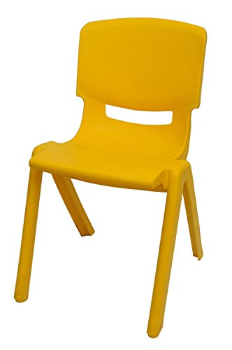 Intra Kids Strong and Sturdy Durable Kids Premium Plastic Chair (Small) (Yellow)