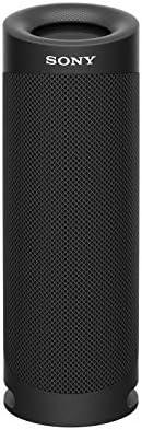 مكبر صوت بلوتوث اكسترا باس محمول ومقاوم للماء من سوني - اسود، موديل SRS-XB23