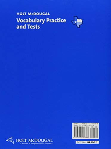 Holt McDougal Literature: Vocabulary Practice Grades 6-8