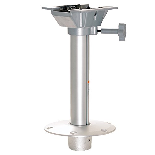 wellenshop® Sockelfuß Stuhlbein Pedestal für Bootssitz, 385 mm Höhe