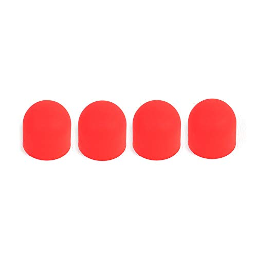 4 STÜCKE Dicke Gummi Motorabdeckung Silikon Staubdichte Stecker Abdeckung Schutz Für DJI Mavic 2 Pro/Zoom (Red)