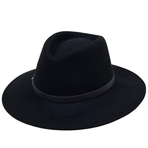 Kapmore Mens Unisex Plain Fühlte Gangster Fedora Hut mit Lederband Gürtel - Kostüm Mit Top Hüte Frauen