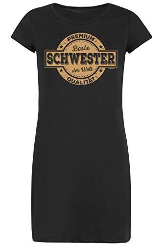 Sleepshirt/Nachthemd-Schlafshirt Damen/Bekleidung Thema Familie: Premium Qualität Schwester der Welt