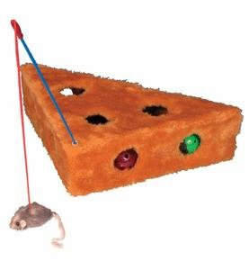 Large Cat Cheese Toy With Pole & Balls Cats by Trixie