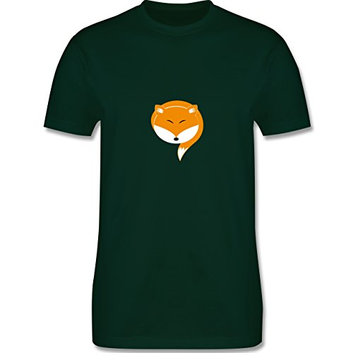 Eulen, Füchse & Co. - Kleiner Fuchs - Herren Premium T-Shirt Dunkelgrün