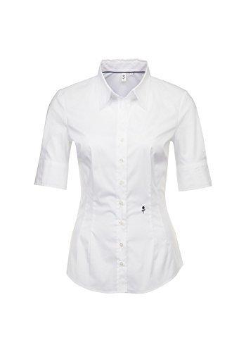 SEIDENSTICKER Schwarze Rose - Damen City-Bluse 1/2-lang (60.080607) Weiß(1)