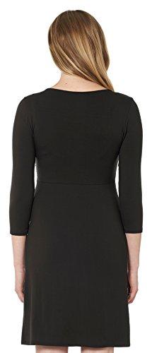 Noppies nursing stillkleid elias/3/4, longueur des manches et «noires» parfaitement adapté aux petites umstandsmode 50127 pack d'robe pour femme Noir - Schwarz (black 06)