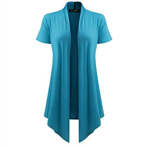 Damen Kurzarm Kimono Strickjacke Weiche Drapierte Strickjacke Kurzarm Kittel Sonnenschutz Bluse Tops Kleidung