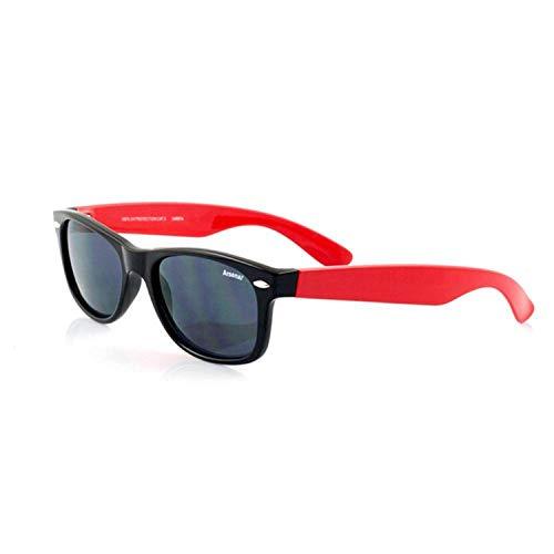 Kinder Wayfarer Sonnenbrille mit Arsenal FC Design (Einheitsgröße) (Schwarz/Rot)