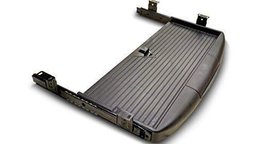 Bandeja/estante deslizante para teclado de escritorio, con soporte para bolígrafo, color negro