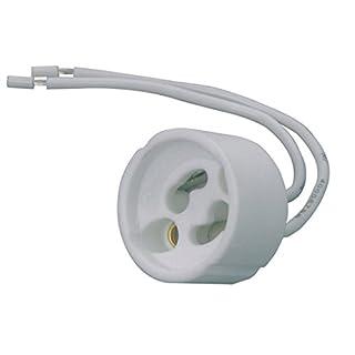 Aistuo 20er-Pack GU10 Lampenfassung DVE und UL listed - Mit isol. Kabelzuleitung - Lampen Sockel für LED Halogen CFL--2 X Kabelisolierung
