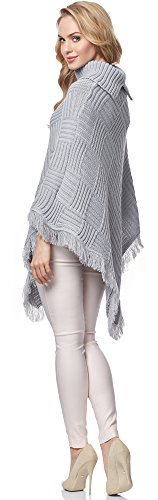 Merry Style Damen Poncho MSSE0023 Grau