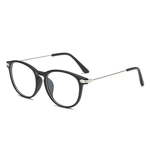 Inmorven Computer Brillen mit blaulichtfilter-entspiegelt-Federleichte transparent Lesebrillen/Gamer Gamingbrille Verringerung der Augenbelastung Flexibel,UV400,Unisex(Mit Box) (Schwarz 01)