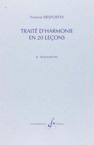 Traite d'harmonie en 20 lecons - realisations
