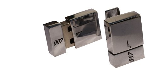 Funky Cufflinks~com - Gemelli per camicia / Gadget James Bond 007 con USB Flash 8 GB